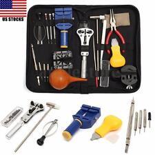 Portable 22Pcs Watch Repair Tool  Set Kit Case Opener Remover Holder Spring Bar
