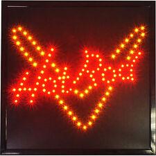 "19x19"" Hot Rod Street Muscle Car Repair Shop Garage LED Open Business Sign neon"