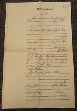 1914 Germany marriage certificate Heiratsurkunde