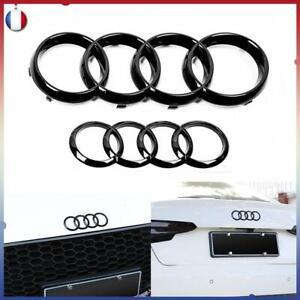 Avant Arrière Emblème pour AUDI Logo Noir Badge A1 A3 A4 A5 A6 Calandre Satz