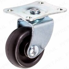 More details for 4x small 31mm nylon castor wheels steel plate fixing caster cart dolly furniture