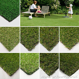 Artificial Grass Quality FROM JUST £4.49/m² Cheap Realistic Garden Astro Turf