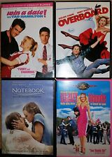 Lot of 4 DVD's The Notebook, Legally Blond, Overboard, Win a date! FREE SHIP
