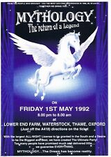 MYTHOLOGY Rave Flyer Flyers A4 1/5/92 Lower End Farm Thame Oxford Easygroove SS