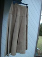 Fabulous Jones New York Flared Suede Skirt w/ Comfortable Lining Size 6