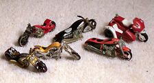 6 Piece Lot - Metal Motorcycles Hot Wheels & Matchbox 1:64 Scale