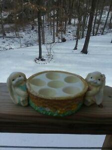 Ceramic Easter Bunny Egg Holder