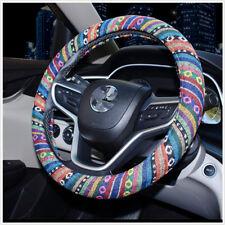 Flax Car Auto Steering Wheel Cover 38cm/ 15'' Wrap Natural Fibers Anti Slip