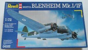 REVELL 1:72 ~ BRISTOL BLENHEIM Mk.1 / 1F ~ REF: 04102 ~ PARTS STILL SEALED