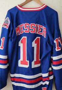 New Mark Messier New York Rangers Throwback Jersey - Sweater Blue NHL Hockey 🏒