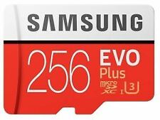 Samsung EVO Plus 256GB Micro SD  SDXC 90mb U3 UHS-I Card inc Adap  256 GB