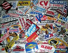 RACING DECAL LOT OF 100+ ORIGINAL DECAL/STICKERS