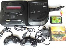 SEGA Mega Drive and MEGA-CD 2 console set(GENESIS)/with,2 pads,PSU,AV cable-B-