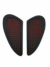 Red Anti slip Tank Traction Side Pads Grip Protector For Triumph All Models
