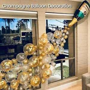42pcs Giant Foil Champagne Balloon Set Birthday Anniversary Party AU Stock