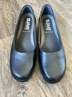 Black Comfort Dolly Shoes Leather Suave Wide Fitting EU 40 Uk 7