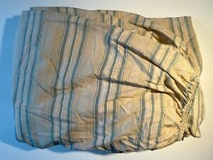 Ralph Lauren FULL DOUBLE FITTED Sheet Squire's Path Stripe Merri Neutral