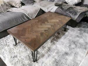 Oak Herringbone Coffee/Dining Table