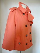 Designer BURBERRY Peachy Orange Short Trench  Coat Mac M 14 Classic