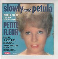 """Petula CLARK Vinyle 45T 7"""" EP SLOWLY Dance Slow PETITE FLEUR VOGUE 8255 F Rèduit"""