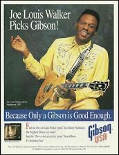 Joe Louis Walker 1994 JLW Gibson Nighthawk CST guitar ad 8 x 11 advertisement