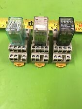 Lot Of 3 14 Pin Spade Relays With Bases 24v 156 14q100