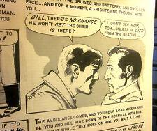 Original COMIC ART by George Evans-- EC Comics SHOCK SUSPENSTORIES PAGE #3