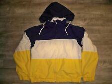 Vintage Eddie Bauer Sailing Windbreaker Color Block Jacket Coat Mens Size Medium