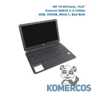 "HP 15-f033wm, 15.6"" Laptop , Celeron N2830, 4GB, 500GB, Win8.1  ""A"""