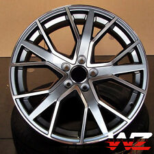 19 in RS6 Style Wheels Gunmetal Machined Rims Fits Audi A3 S3 A4 S4 A5 S5 TT Q3
