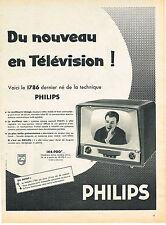 PUBLICITE ADVERTISING  1958    PHILIPS   téléviseur