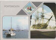 Portsmouth HMS Warrior HMS Victory Postcard 042a