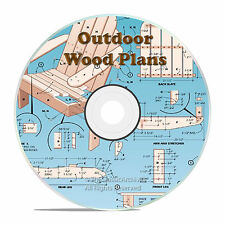 OUTDOOR PATIO FURNITURE PROJECT PLANS, SHEDS, BARNS, CD, PATIO RECLINER