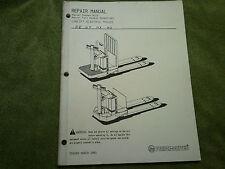 Prime Mover Low Lift ElectricTrucks   Repair Manual  PE HT HX MX