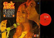 LP--CINDY & BERT --LIEDER UNSERER WELT