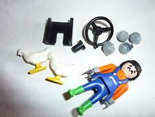 PLAYMOBIL personnage ferme véhicule tracteur  paysan 2 poules et accessoires