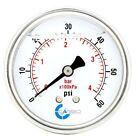 2.5' LIQUID FILLED PRESSURE GAUGE 0 - 60 PSI, STAINLESS STEEL CASE BACK  MOUNT
