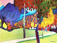 WASSILY KANDINSKY AUTUMN STUDY NEAR OBERAU OLD ART PAINTING POSTER 3050OMLV