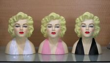 Marilyn Monroe 10 Inch Porcelain Head Vase Pink,Black or White Special Free Ship