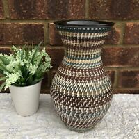 "Vtg Dee Cee Pottery Vase 10"" Gesgesch Handarbeit 216/25 West Germany Mid Century"