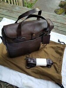 Filson Weatherproof Leather Original Briefcase w storage ruck sack. NWT Sierra