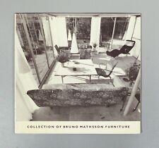 Collection de BRUNO MATHSSON meubles Suédois design catalogue 1970