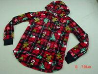 NWT Junior Women No Boundaries Fluffy Fleece Christmas theme Pullover Hoodie