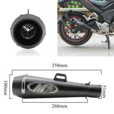 Motorcycle Motorbike 51mm Black Metal Modified Exhaust Exhaust Muffler Pipe Tip