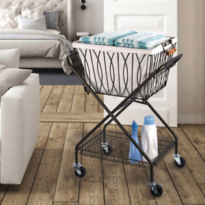 Artesa Verona Laundry Cart with Removable Basket