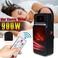 Portable Space Heater 900W Mini Ceramic Electric Fan Heater LED Display  US