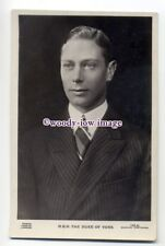 r1529 - Duke of York who became King George VI - postcard