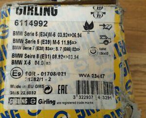 Girling 6114992 BMW Series 5 E34 E39 7 E38 740i 8 E31 X5 brake Pads