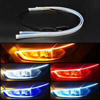 2X Cars DRL LED Daytime Running Lights Turn Signal Guide Strip Headlight Styling