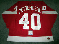 HENRIK ZETTERBERG Detroit Red Wings SIGNED Autographed JERSEY w/ BAS COA XL New